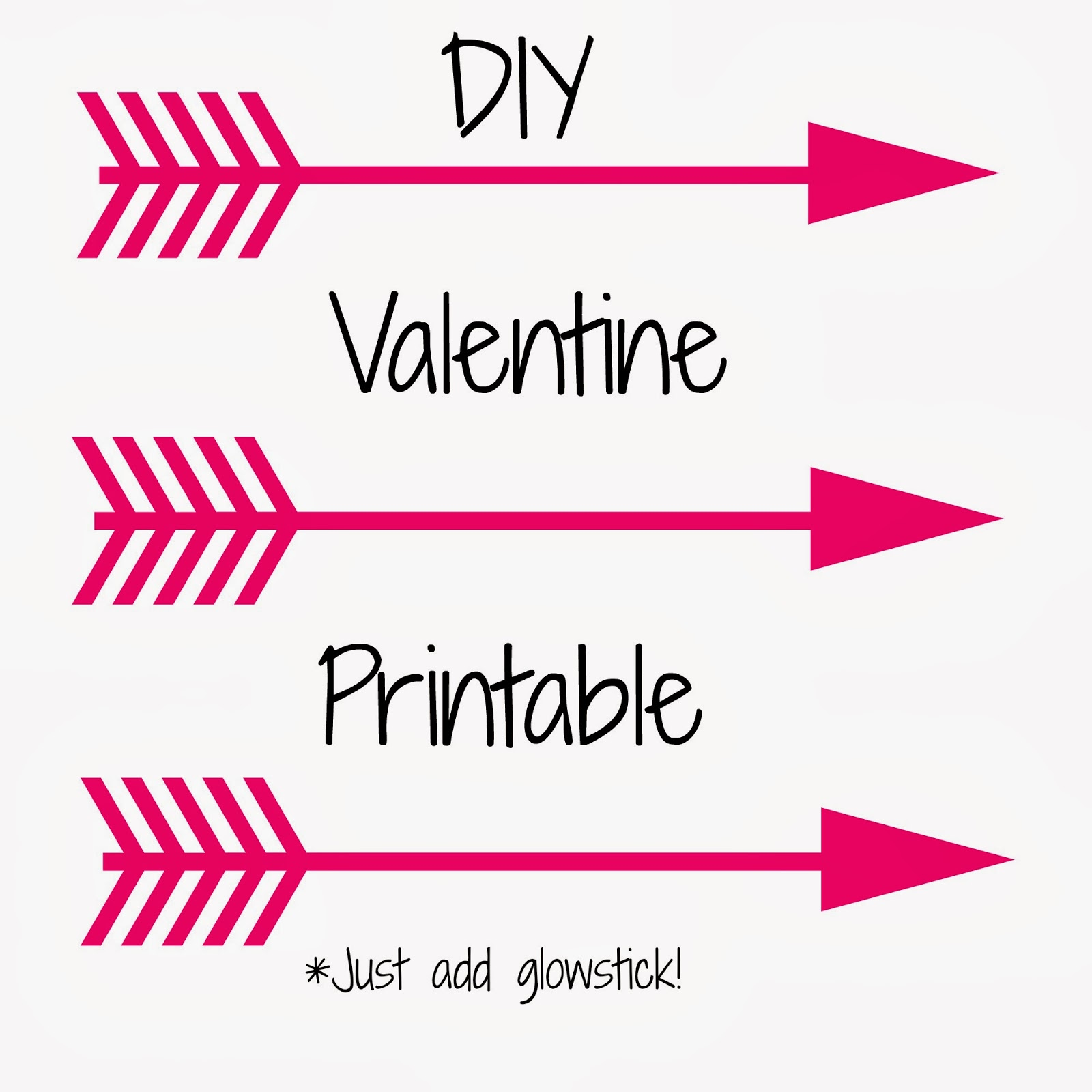 photo regarding Free Printable Arrows known as Sighs:: Do it yourself Shine Adhere Arrow Valentine - No cost Printable!