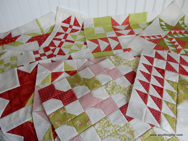Works in Progress: Red and Green Quilt Blocks | A Quilting Life ... : red and green quilts - Adamdwight.com
