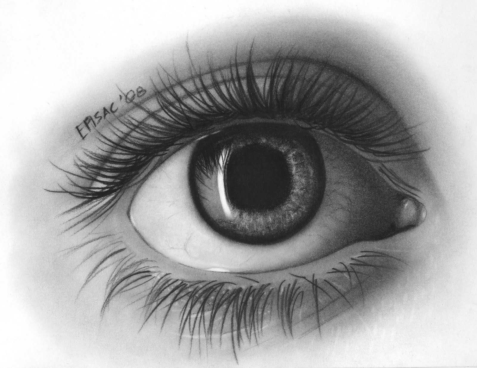Scribble Eyes Drawing : Lilycee