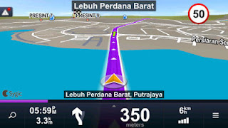 Sygic GPS Navigasi Map Indonesia - Android Black