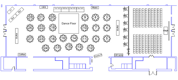 Wedding Reception Floor Plan Layout