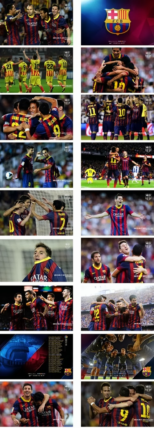 Barcelona Fc 2013 2014 Theme For Windows 7 and 8 8.1