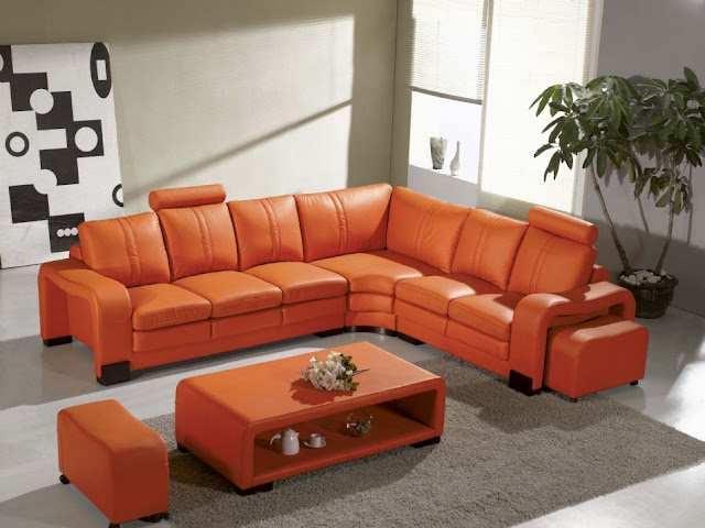 amazing square orange coffee table with the elegant loveseat sofa in the small family room