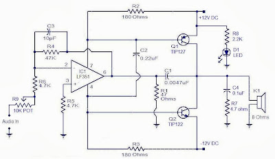 wiring material build 10 watt audio power amplifier circuit