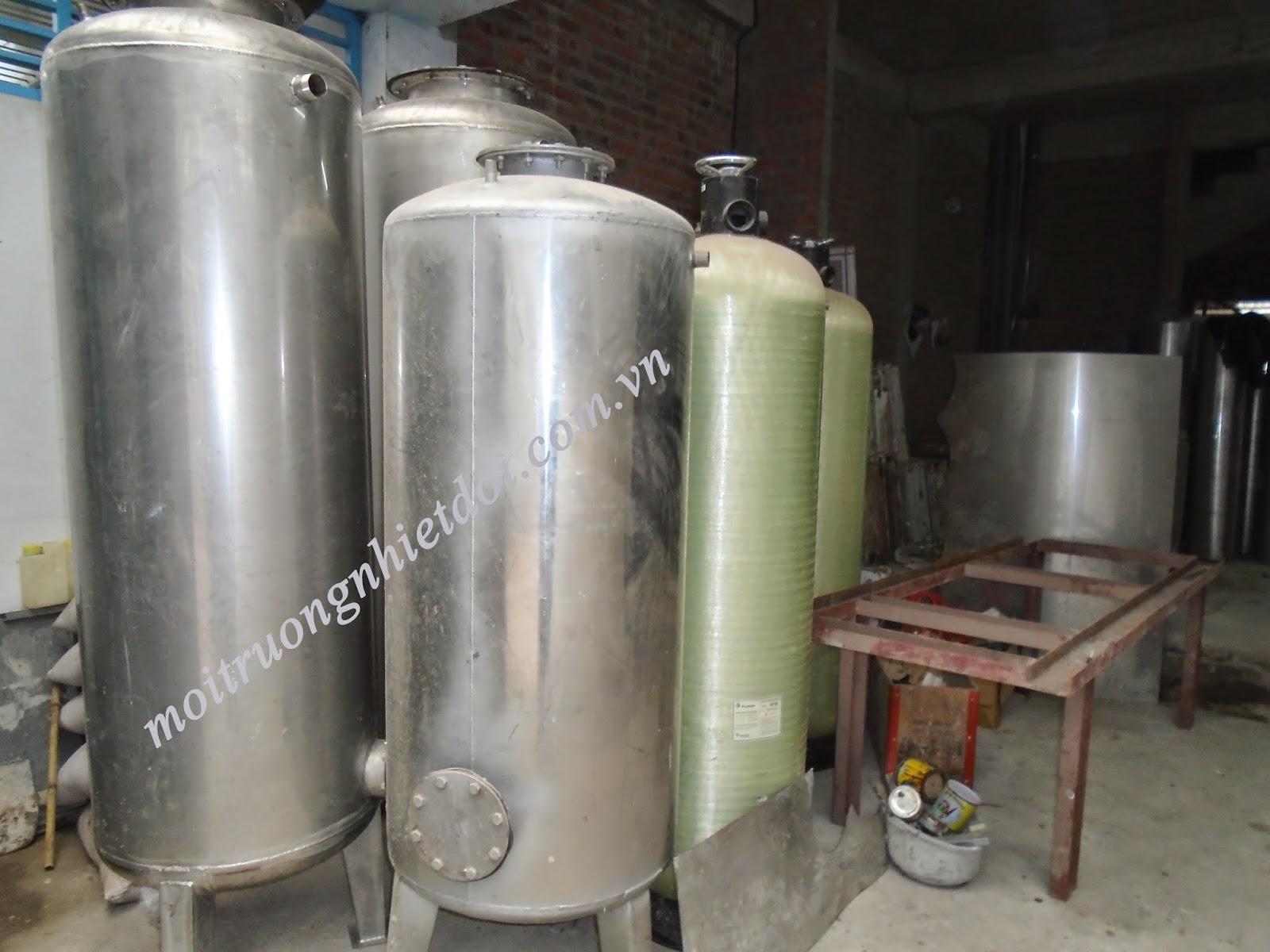 Bình lọc áp lực inox SUS 304 được dùng trong xử lý nước cấp