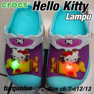 Crocs Hello Kitty lampu turqo