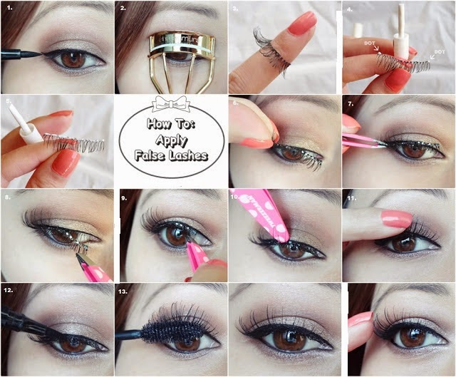 How To Apply False Lashes ~ Step-by-Step Tutorial