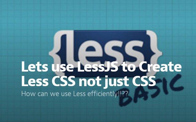 Varian dari less dan javascript