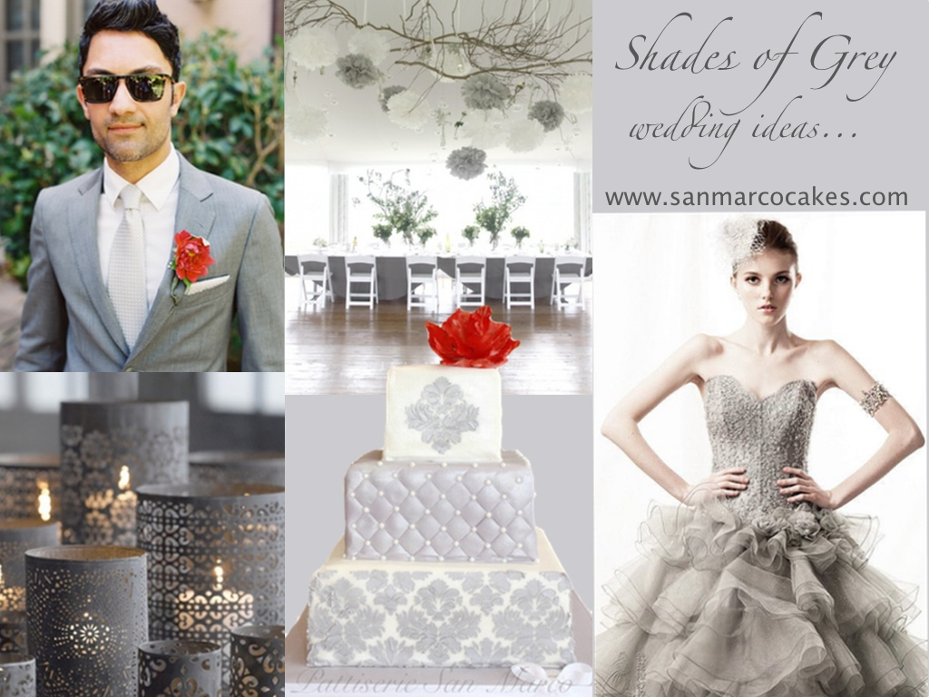 San Marco Cakes: Shades of Grey Wedding Theme - San Marco Cakes ...