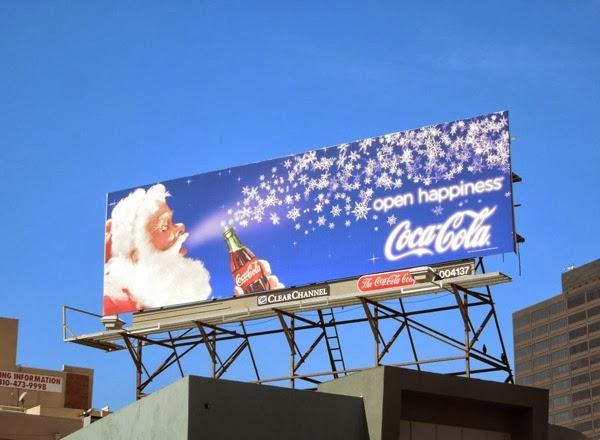 Coke Santa billboard 2013