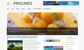 Prolines Blogger Template
