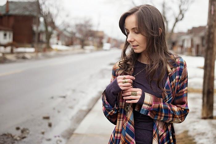 Plaid-ruffle-shirt-womens-fashion