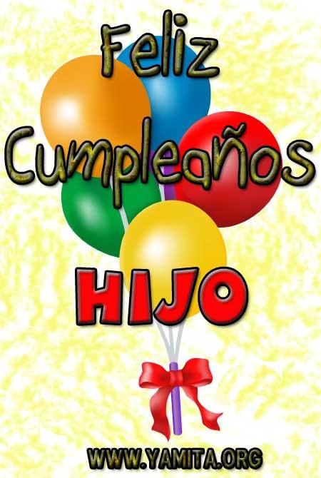 Feliz cumpleaños a mi hijo querido - Imagui
