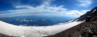 The view from Camp Muir looking back down.