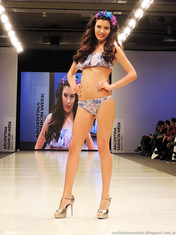 Bkinis de moda 2015 Marcela Koury primavera verano 2015.