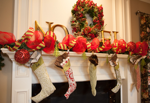 ive had the wreath for years that hangs above the fireplace at christmas and last year i got the noel letters at hobby lobby for half price and i love - Hobby Lobby Christmas Stockings