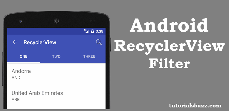 Android Filter RecyclerView Using SearchView In ToolBar