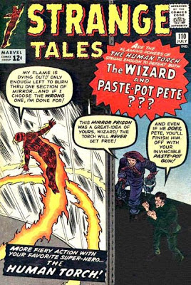 Strange Tales #110, the Human Torch v the Wizard and Paste-Pot Pet