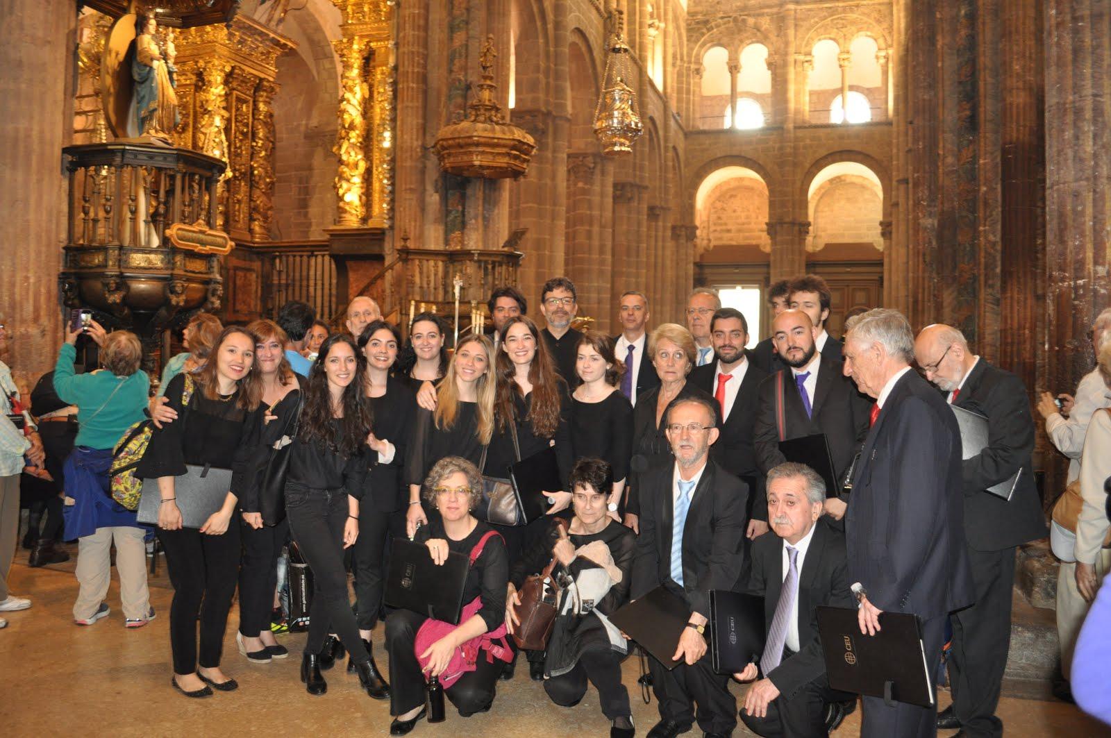 Cantando en Santiago