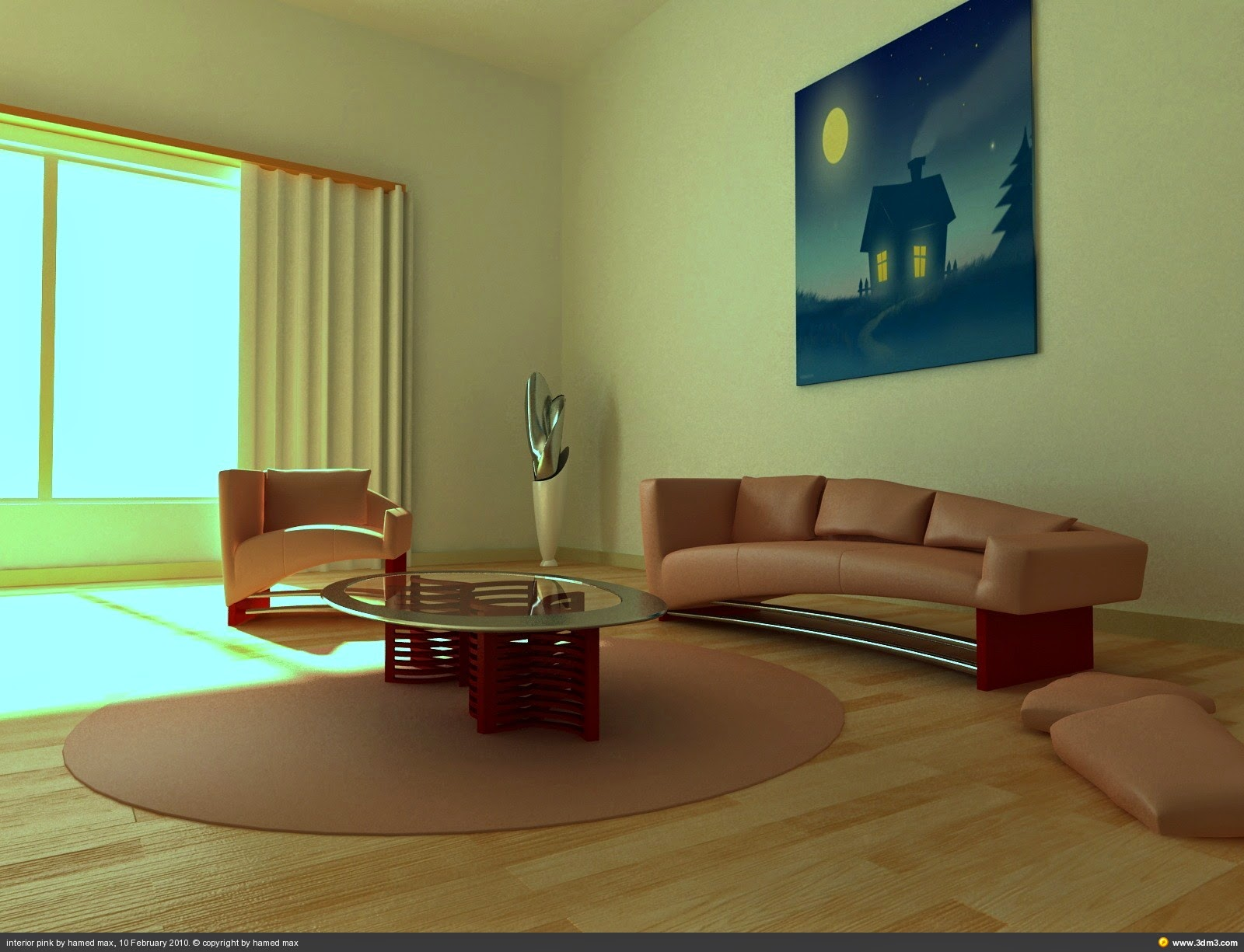 Foundation dezin decor 3ds max interior models for 3ds max design