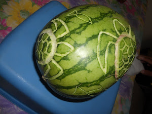 CARVING WATERMELON