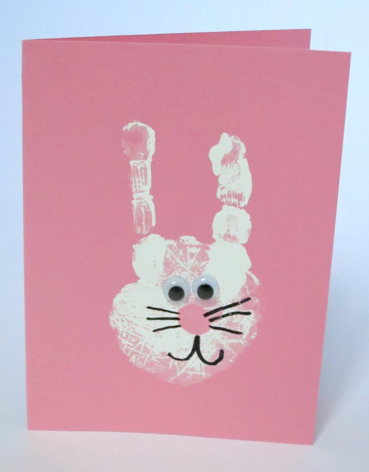 Cindy derosier my creative life bunny handprint cards