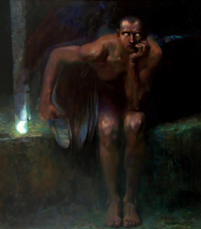 Franz Von Stuck 1863 -1928 | Lucifero 1889-1890