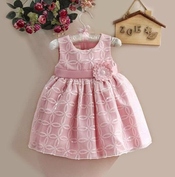 Contoh dress anak model terbaru warna pink branded