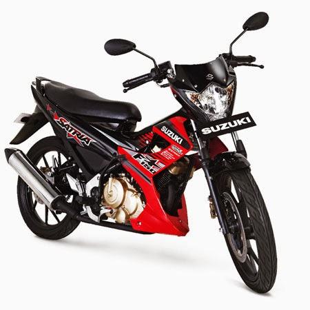 gambar suzuki satria fu150 2015 facelift merah