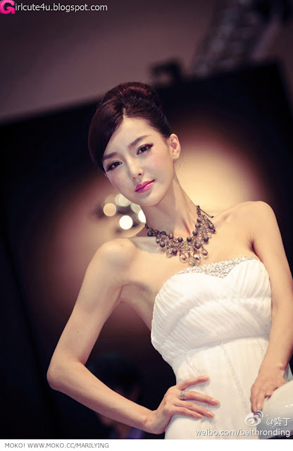 Li-Ying-Zhi-White-Gown-02-very cute asian girl-girlcute4u.blogspot.com