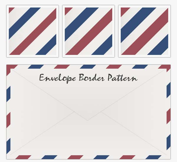 Airmail Envelopes Red and Blue