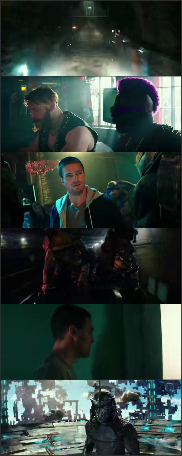 Screen Shot Of Teenage Mutant Ninja Turtles: Out of the Shadows 2016 300MB Full Movie Hindi Dubbed Free Download 480P BRRip Small Size PC Movie