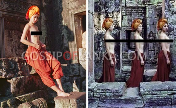 Gossip Lanka, Hiru Gossip, Lanka C News - 2 American girls arrested in Cambodia after taking nude photos inside the sacred Angkor Wat temple