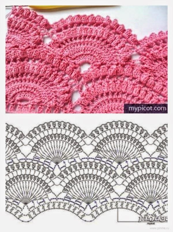 Magnífico Falda De La Colmena De Crochet Patrón Libre Imágenes ...
