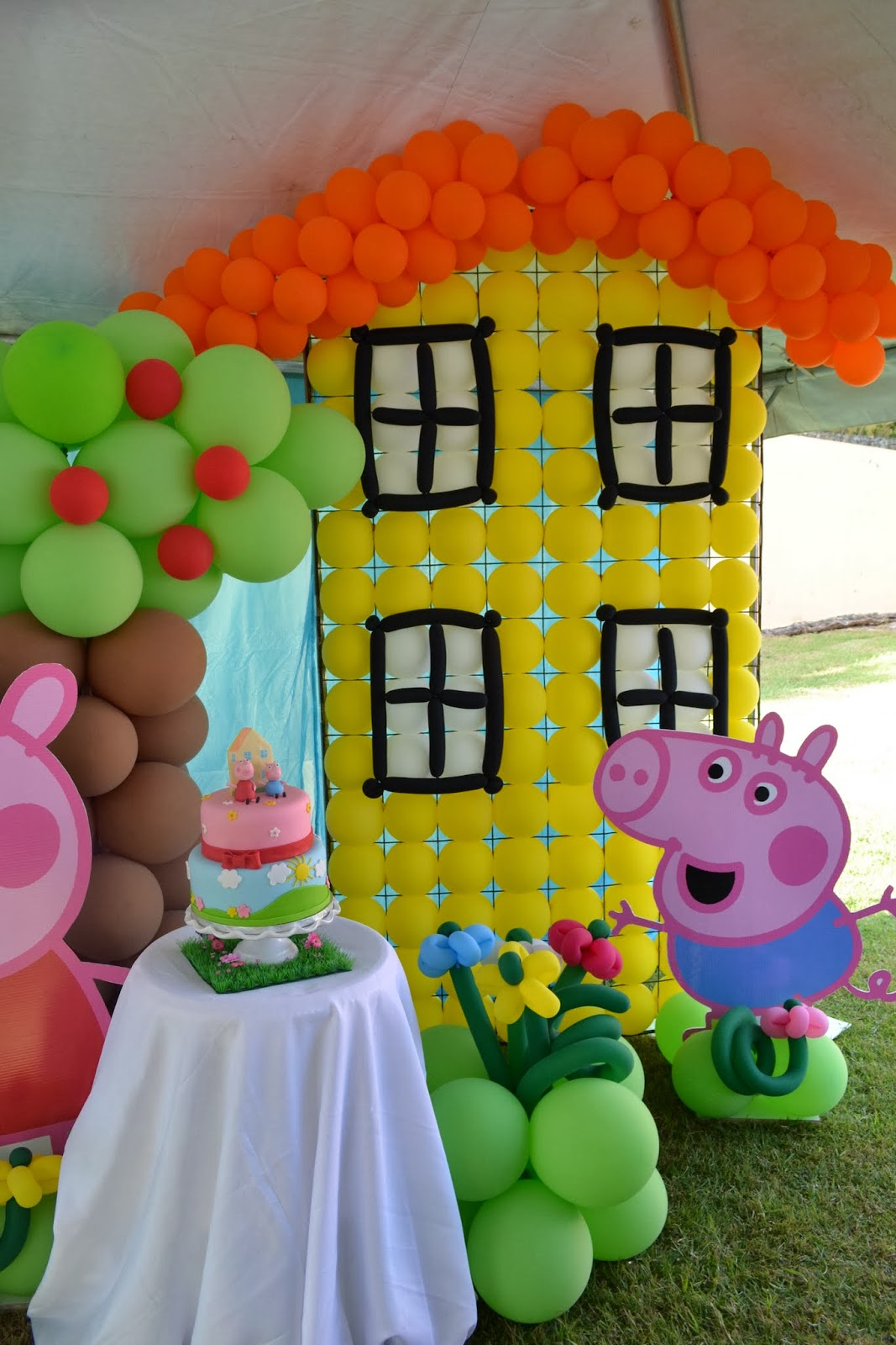Partylicious events pr peppa pig party for Como hacer decoraciones para la casa