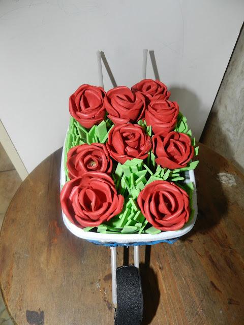 Rosas no carrinho Gideão