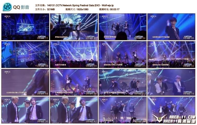 [Show] 140131 EXO – Wolf @ CCTV Network Spring Festival Gala