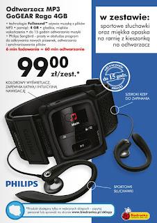 Odtwarzacz MP3 Philips GoGEAR Raga 4GB Biedronka ulotka