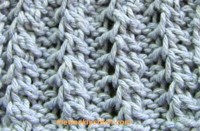 Feather Rib The Weekly Stitch
