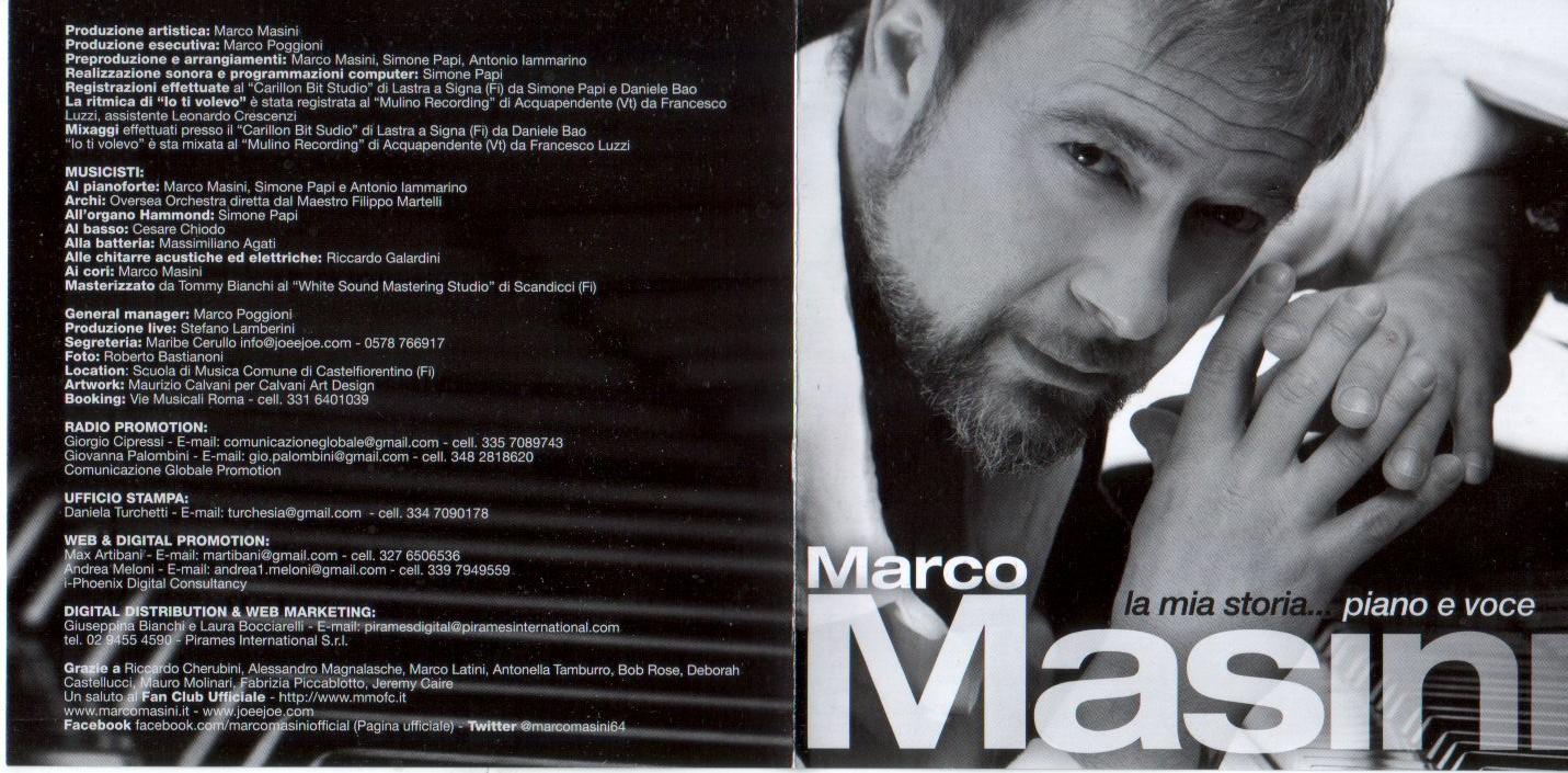 Marco masini la mia storia piano e voce blog di for 2 piani piano cabina storia