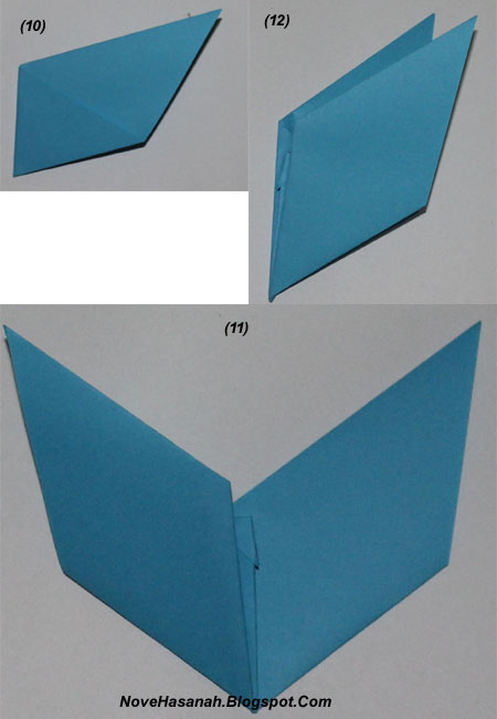 langkah-langkah melipat kertas origami untuk membuat bentuk binatang kelelawar yang unik, cocok untuk anak SD kelas 4, 5, dan 6, serta untuk pemula 10