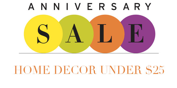 nordstrom anniversary sale home decor under 25