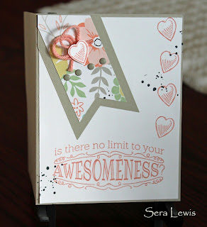 Pennant dies from Stampin' Up! make this card extra-awesome