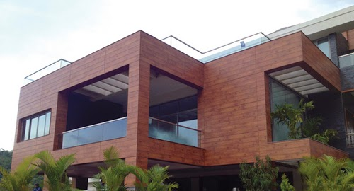 Front Elevation Wooden Tiles : Front elevation in delhi