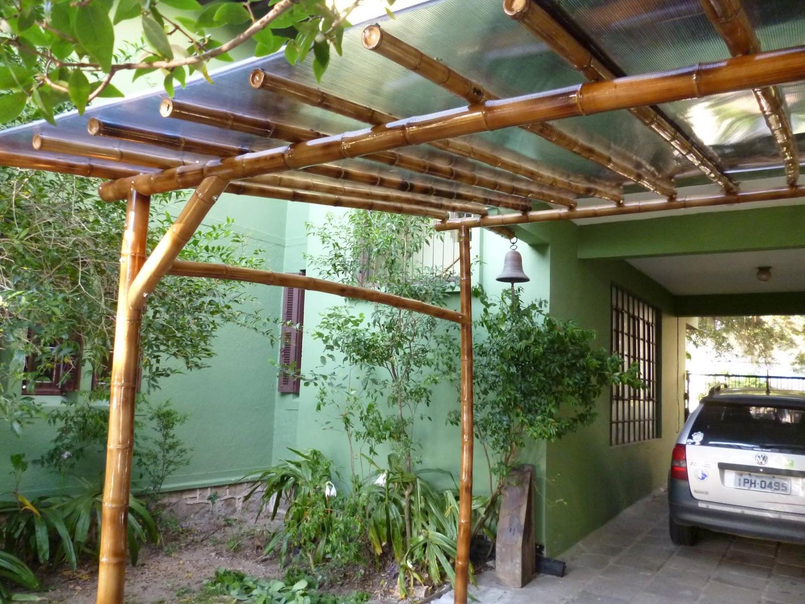 Pergolas De Bambu Top Pergola De Madera Gazebo Con Bambu O Deck  # Muebles De Jardin Easy