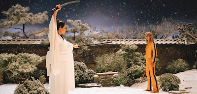 Sword fight in the snow in Kill Bill