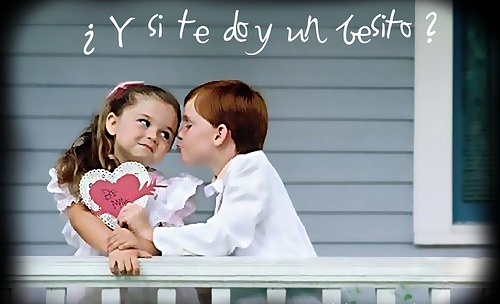 imágenes con frases de besos en niños