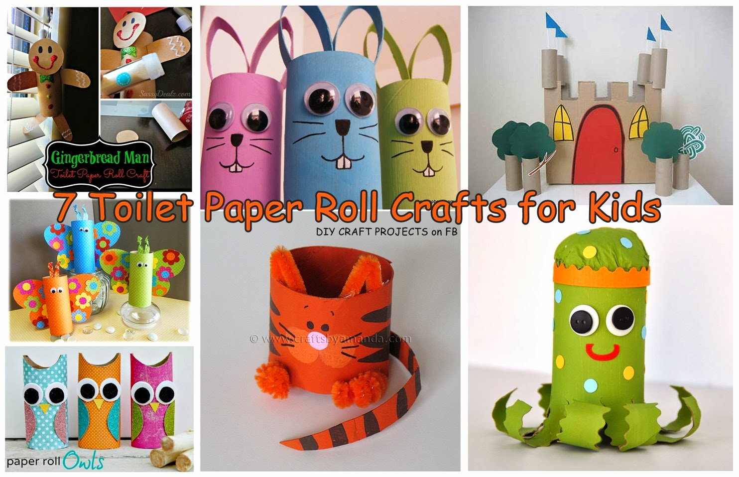 Toilet paper roll crafts paper crafts for Paper art projects