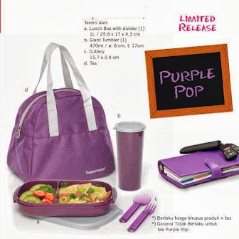 PURPLE POP TUPPERWARE