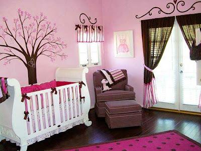 dormitorio rosa bebé